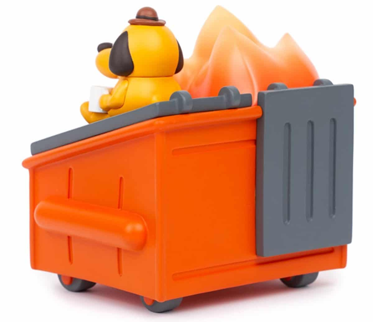 Dumpster Fire meets This is Fine dog in this adorable vinyl figure 19