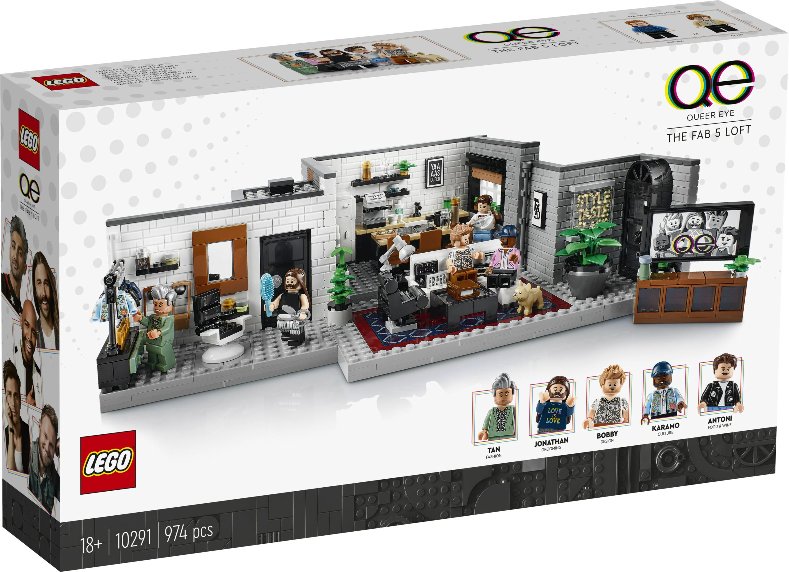 LEGO and Queer Eye create a brick model of the Fab 5 Loft 26