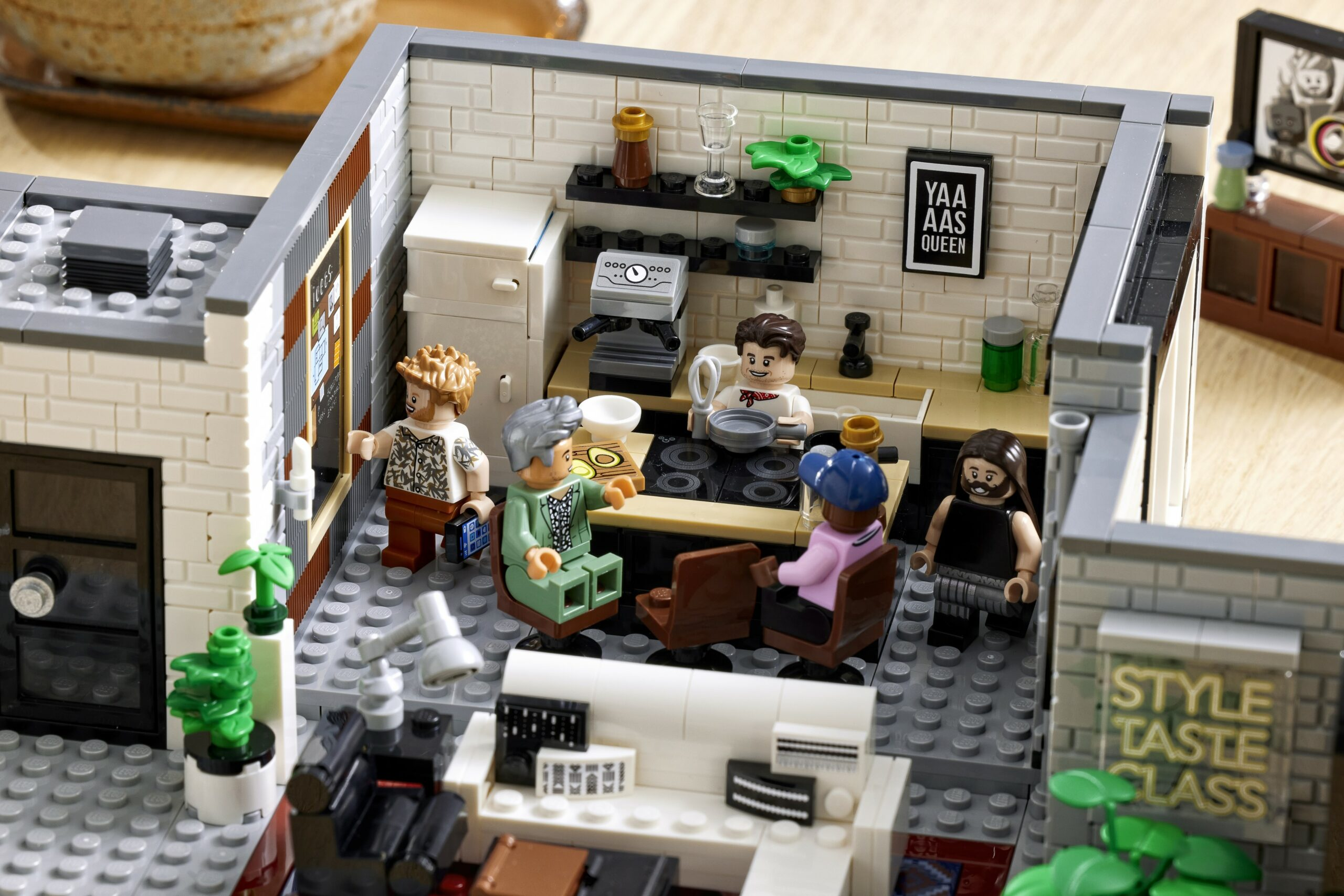 LEGO and Queer Eye create a brick model of the Fab 5 Loft 18