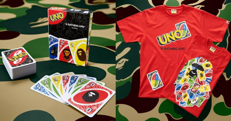 UNO gets BAPE-themed cards and t-shirts for its 50th anniversary 13
