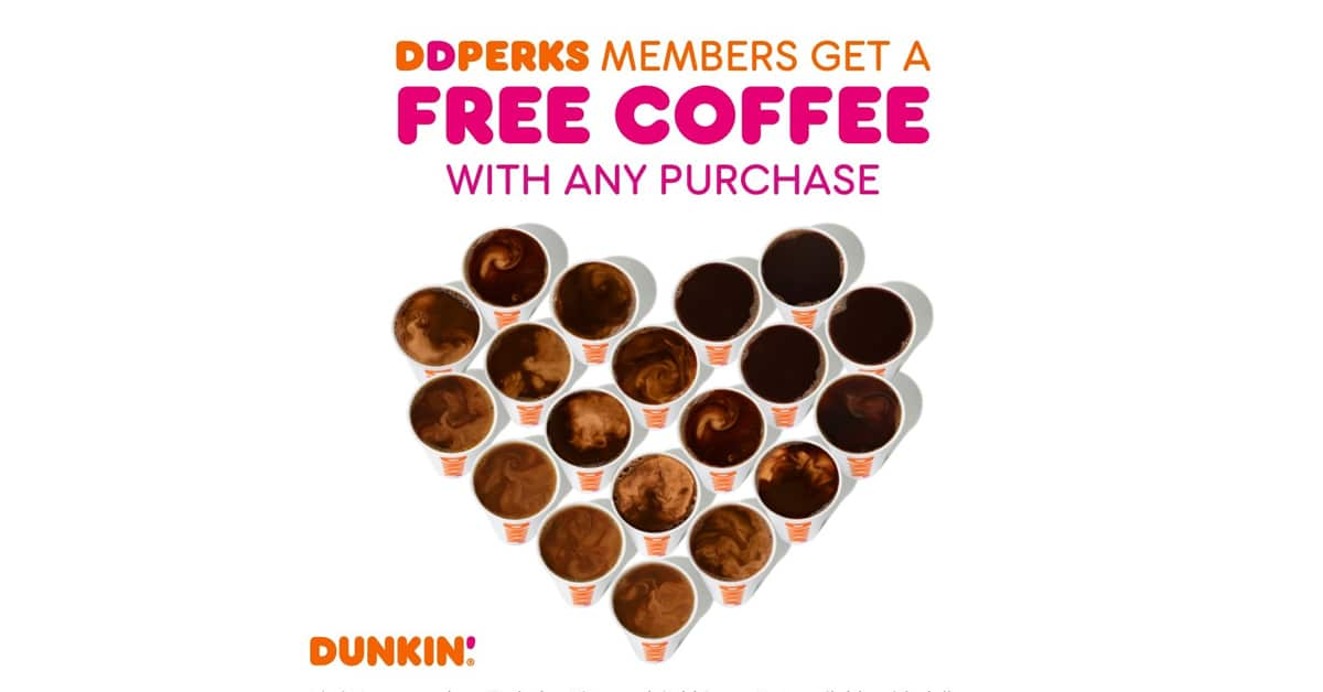 Dunkin' Donuts is giving away free coffee on National Coffee Day 16