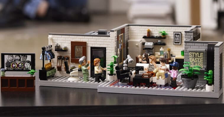 LEGO and Queer Eye create a brick model of the Fab 5 Loft 16