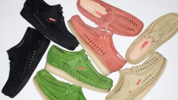 Supreme and Clarks Originals team up for a Woven Wallabee collection 21
