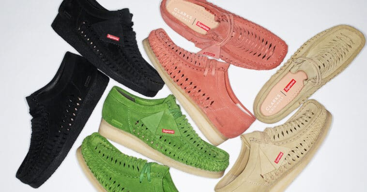 Supreme and Clarks Originals team up for a Woven Wallabee collection 16