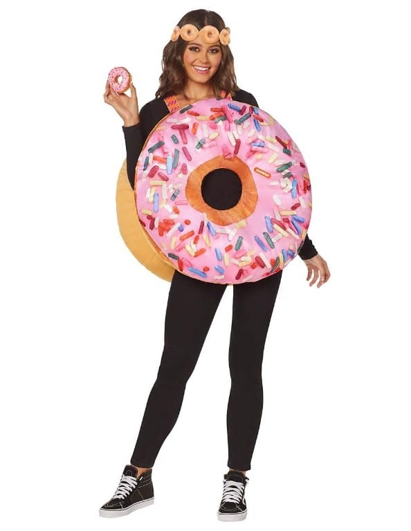 Adult Dunkin' Strawberry Frosted Donut Costume
