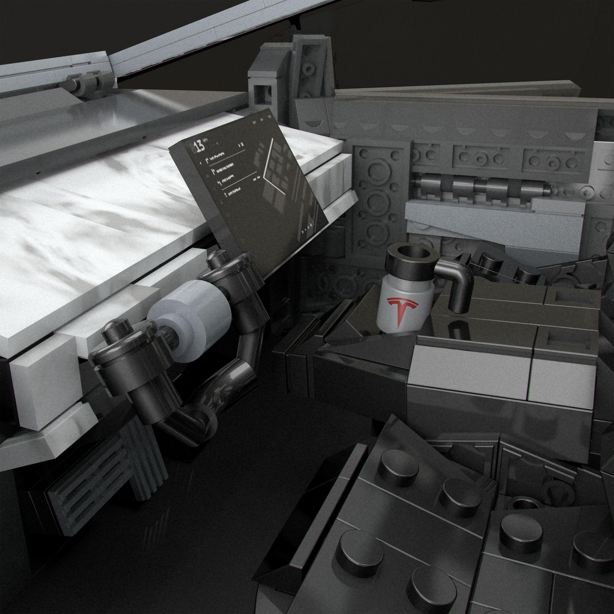 MEGA creates a buildable Tesla Cybertruck 17