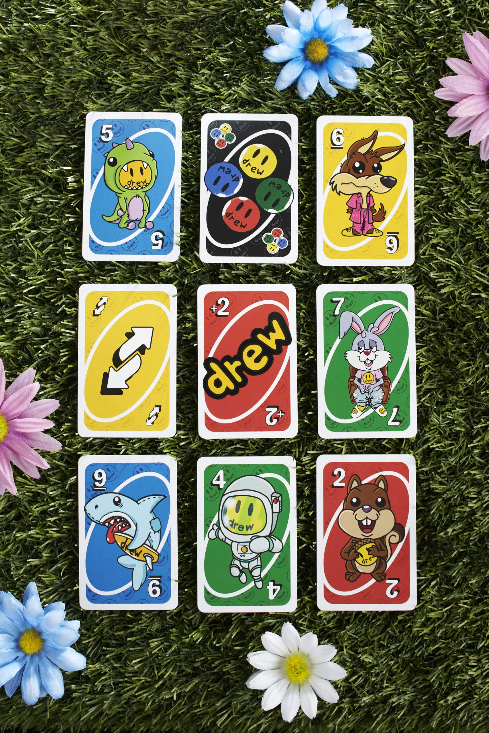 UNO teams up with Justin Bieber's drew house for a limited-edition card deck 15