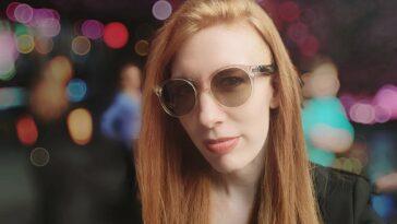 Helena Stone wearing Soundcore Frames sunglasses